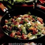 Баранина с зеленой овощной смесью по-азиатски