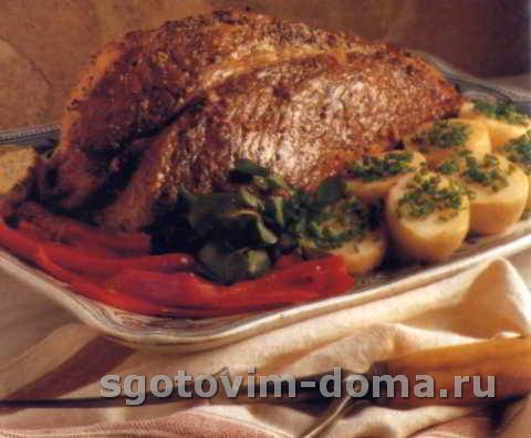 Говядина-гриль с лимонно-горчичным маслом