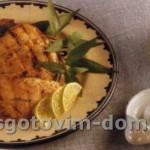 Куриные грудки с кмином и лаймом