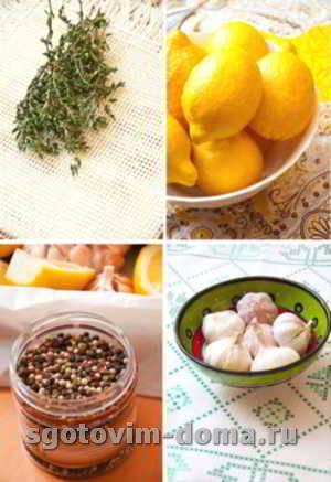 Лимонно-чесночный маринад