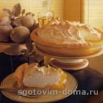 Лимонно-меренговый торт