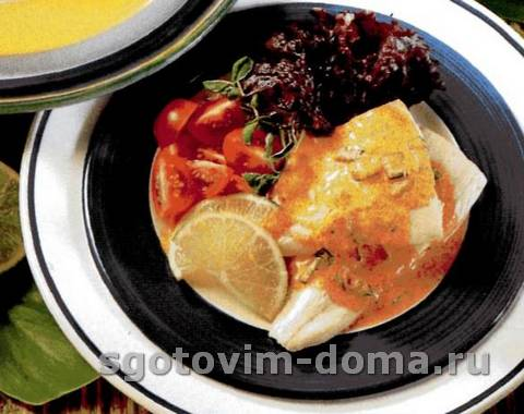 Пряная рыба с кокосовым соусом