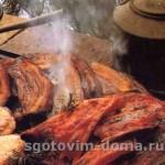 Грудинка свиная в гриле (духовке)