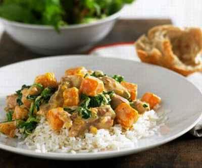 Рис с тыквой и курицей