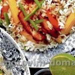 Рисовый салат со свининой