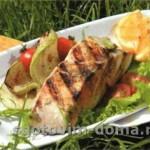 Рыбное филе в духовке на гриле