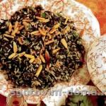 Салат из дикорастущего и коричневого риса
