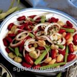 Салат из фасоли и бобов