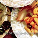 Салат из кукурузных початков и пименто