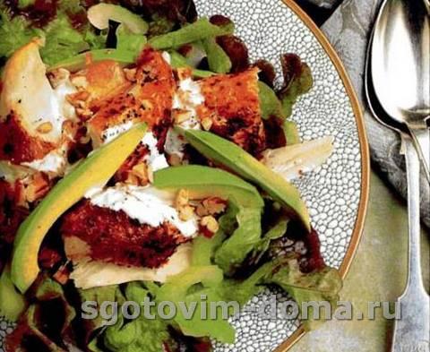 Салат на скорую руку из курицы