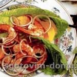 Салат с креветками по-испански