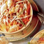 Салат с ракушками