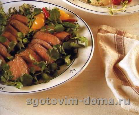 Стейк гриль в кисло-сладком маринаде