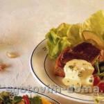Стейк из филея говядины под соусом беарнез с хреном