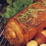 Свиной рулет с имбирем в духовке, на гриле