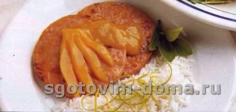 Свиные стейки с глазурью из манго