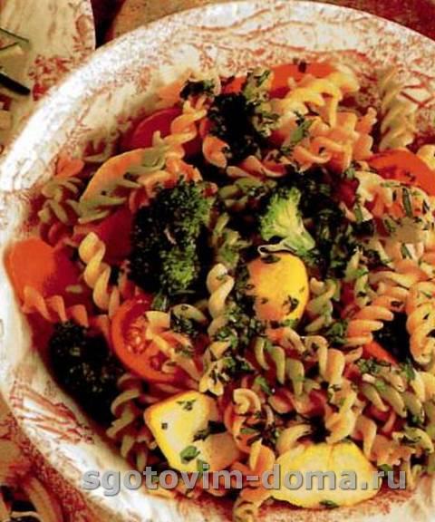 Весенний салат с макаронами