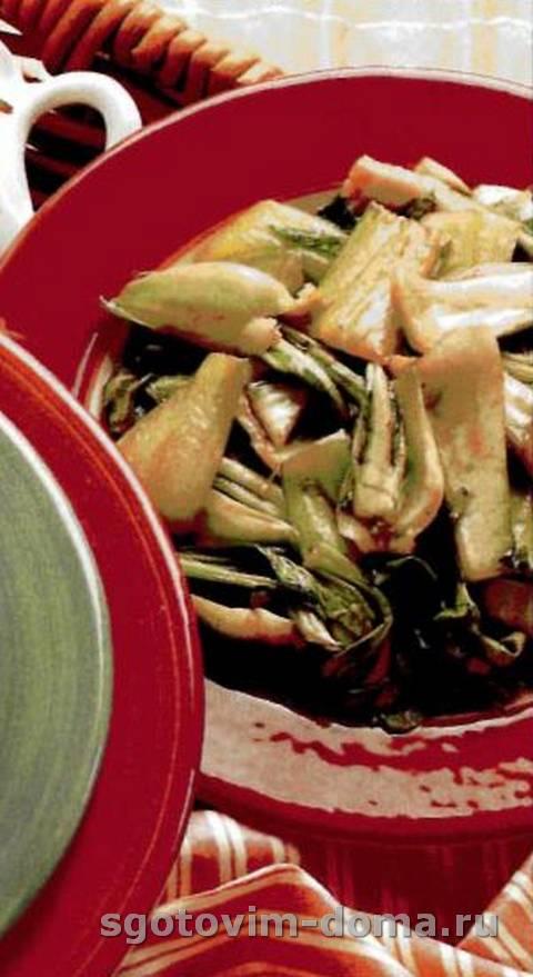 Зеленые овощи по-китайски