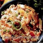 Жареный рис - ризотто с морепродуктами, креветками