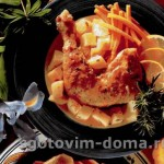 Куриные ножки с лимоном и розмарином на сковороде