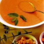 Холодный овощной суп гаспачо