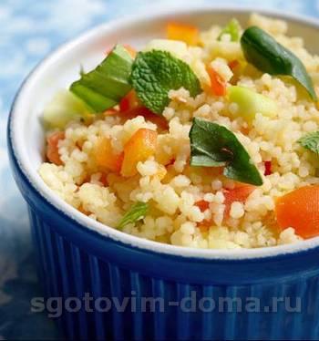 Запеченные овощи с кускусом