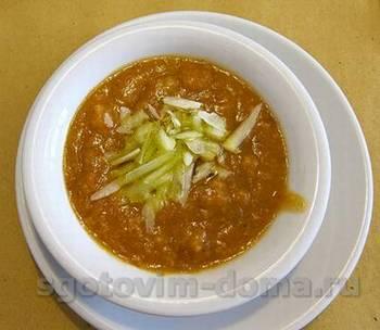 Хлебный суп из яблок