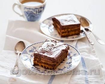 Торт шоколадный с арахисовым кремом