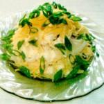 Салат из лука и сыра
