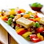 Салат из жаренных баклажанов