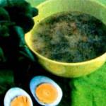 Щавельный борщ с яйцом