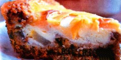 Овсяный пирог с грушами