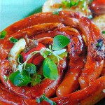 Улитки из колбасы