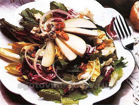 Салат из репы, капусты и грецких орехов