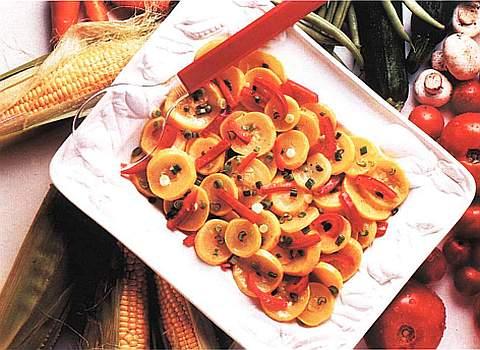 Салат из картофеля и лука