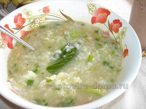 Суп рисовый на мясном бульоне