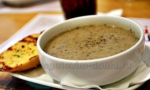 Суп грибной с перловой крупой