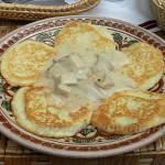 Рецепты Картофельные блины с грибным соусом