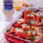 Запеченный лосось в духовке с овощами