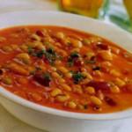 Суп из трех сортов фасоли