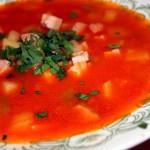 Томатный суп с тосканским хлебом